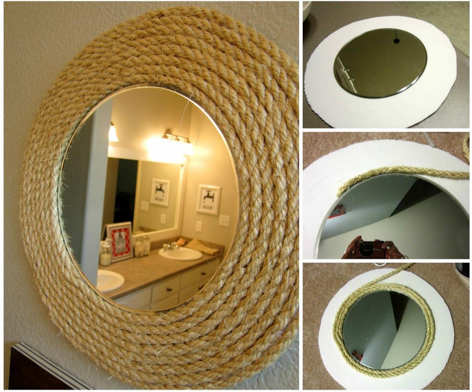 Мастер класс декорирования зеркала джутовой верёвкой