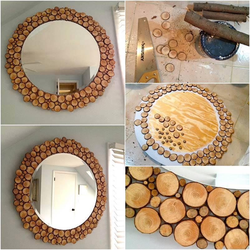 Мастер класс по декорированию зеркала спилами своими руками