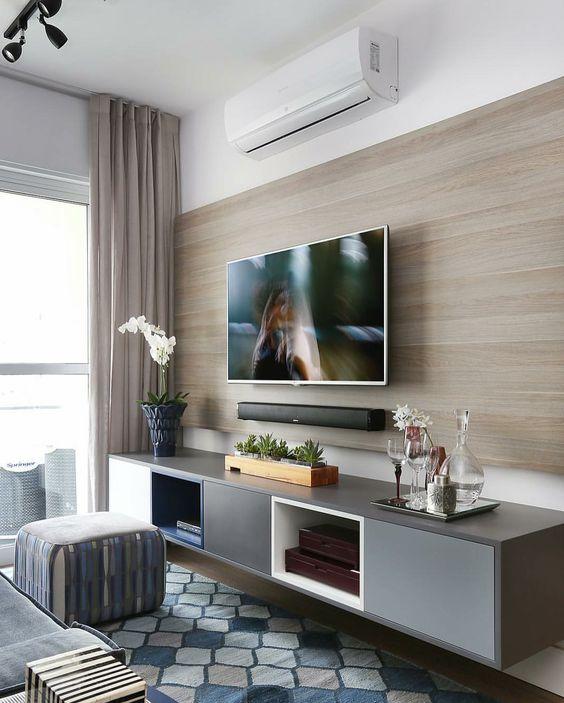 Консоль для ТВ с подвесной тумбой