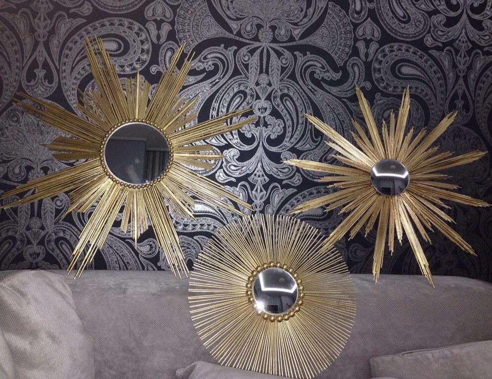 Зеркала солнце ручной работы