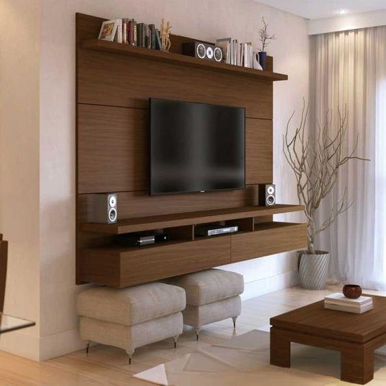 Современная стенка под телевизор в гостиную