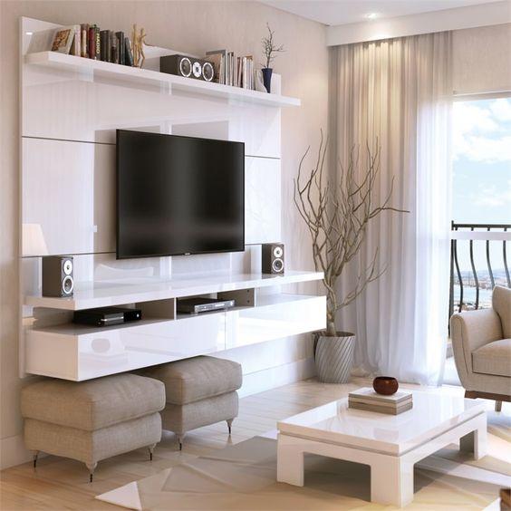 Белая консоль для ТВ